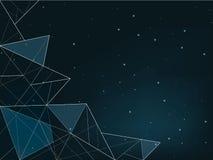 Nächtlicher Himmel mit vielen Sternen Lizenzfreie Stockbilder