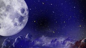 Nächtlicher Himmel mit vielen Sternen Lizenzfreie Stockfotografie