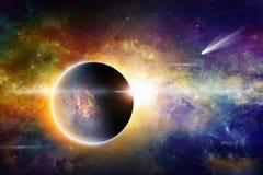 Nächtlicher Himmel mit vielen Sternen Lizenzfreies Stockfoto