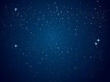 Nächtlicher Himmel mit vielen Sternen vektor abbildung