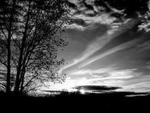 Nächtlicher Himmel am Sonnenuntergang Stockfotografie