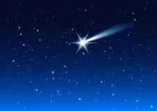 Nächtlicher Himmel Sterntropfen des nächtlichen Himmels machen Wunsch vektor abbildung