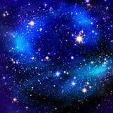 Nächtlicher Himmel und Sterne lizenzfreie abbildung