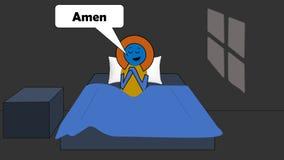 Nächtliches Gebet stock abbildung