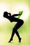 Näck kvinnasilhouette #2 Arkivfoton