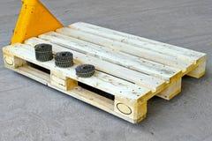 Nägel für Ladeplatte Stockfotos