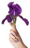 Nägel und Blume Stockfotografie