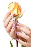 Nägel und Blume Lizenzfreie Stockfotografie