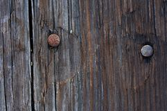 Nägel und Holz Lizenzfreie Stockfotos
