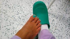 Nägel und Stiefel stockfotografie