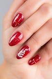 Nägel und Weihnachten Stockbild