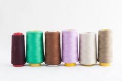 Nähende Geräte, Scheren, Thread, Knöpfe Stockbild