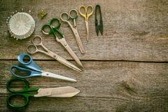 Nähende Scheren, Werkzeug Lizenzfreie Stockfotografie