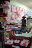 Nähende Werkstatt Stockbild