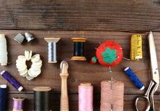 Nähende Werkzeuge Stockbild