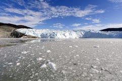 Nähern des Eqi-Gletschers Lizenzfreies Stockfoto
