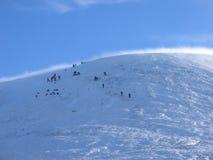 Nähern des Gipfels, Glenshee lizenzfreies stockbild