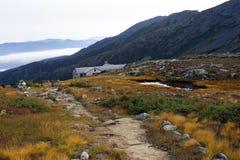 Nähernde Gebirgshütte Lizenzfreies Stockbild