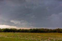 Nähernder Sturm in Kansas Stockfoto