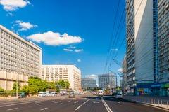 Näherndes Kaluzhskaya-Quadrat von Moskau lizenzfreies stockbild