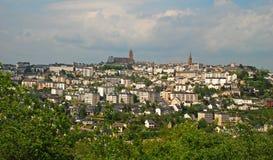 Näherndes Rodez Stockbilder