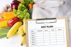 NÄHREN Sie PLANgesunde ernährung und nähren und abnehmen und wiegen Sie Verlust conce stockbild