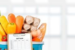 NÄHREN Sie PLANgesunde ernährung und nähren und abnehmen und wiegen Sie Verlust conce lizenzfreies stockfoto