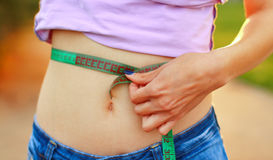 Nährendes Gewichtsverlustkonzept Stockfotografie