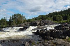 Nämndeforsen. A big natural shoot in the north of Sweden Royalty Free Stock Photography