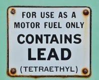 När bensin innehöll ledning som en tillsats Royaltyfria Foton