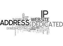 När ditt Websitebehov ett hängivet IP addressordmoln vektor illustrationer