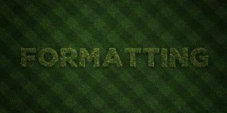 När DU FORMATERAR - nya gräsbokstäver med blommor och maskrosor - 3D framförde fri materielbild för royalty Arkivbilder