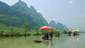 När ett flodlandskap Royaltyfri Foto