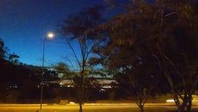 När natten kommer Arkivbild