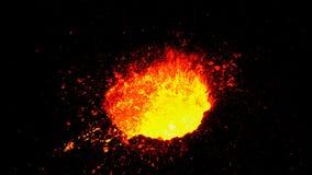 När vulkan får utbrott en gång om året royaltyfri bild