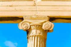 Nära övre akropol för kolonn, Grekland arkivbild