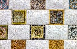Nära övre detalj av en geometrisk mosaik royaltyfri foto
