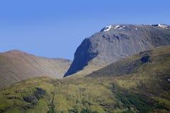 Nära övre för Ben Nevis toppmöte, Lochaber, Skottland, UK Royaltyfri Fotografi