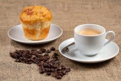 Nära övre för kaffe Arkivbild