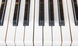 Nära övre för piano, pianoapplåder Bakgrund Royaltyfria Foton