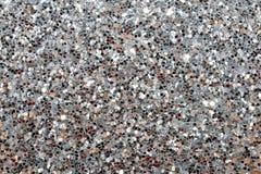 Glitter försilvrar bakgrund Royaltyfri Fotografi