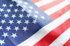 Nära övre högkvalitativt för amerikanska flaggan Arkivbild
