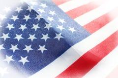 Nära övre högkvalitativt för amerikanska flaggan Royaltyfria Bilder