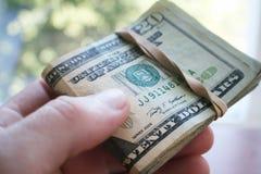 Nära övre högkvalitativt för pengar Arkivbilder