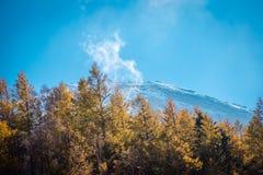 Nära övre sikt av det Fuji berget royaltyfria foton