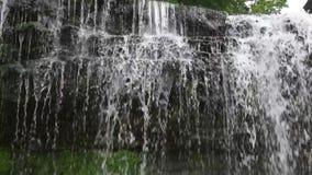 Nära övre sikt för vattenfall arkivfilmer