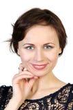 Nära övre stående av den unga skönhetflickan Fotografering för Bildbyråer