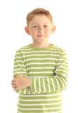 Stående av en le pojke Arkivbild