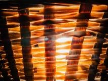 Nära övre vide- korg med ljus tävlan från den arkivbilder