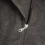 Nära övre zipper Royaltyfri Foto